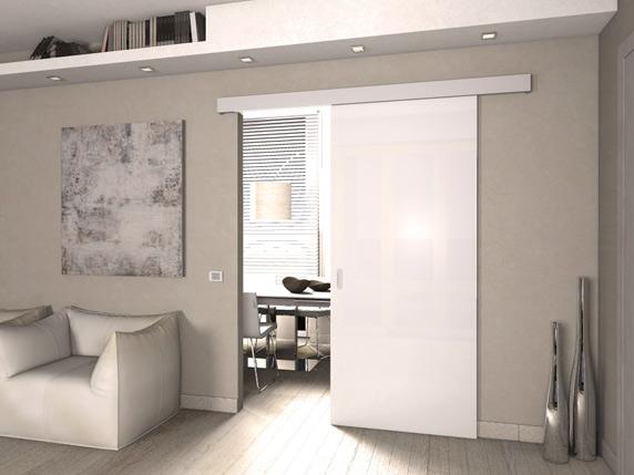 Vendita online porte a vetro moderne modellopuccini in - Porta divisoria zona notte ...